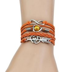 Multi-Strands Infinity Silver Color Heart Charm Leather Braid Bracelet Bangle Je # types of Braids for bracelets Multi-Strands Infinity Silver Color Heart Charm Leather Braid Bracelet Bangle Jewelry 9 Colors For Women and Men 2017 Braided Bracelets, Bangle Bracelets, Bangles, Infinity Charm, Infinity Braid, Types Of Braids, Color Heart, Gold Fashion, Fashion Fashion
