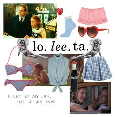 lo. lee. ta by divisionbleach on Polyvore featuring polyvore, fashion, style, American Eagle Outfitters, Topshop, Lab, clothing, vintage inspired, lolita movie, american, lolita and books