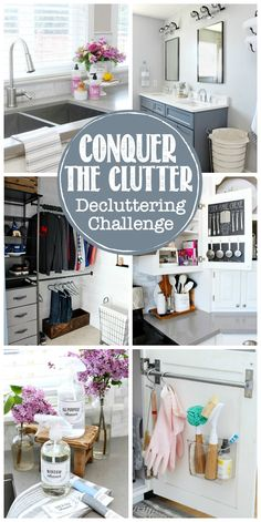Jumpstart your organization with this 31 day decluttering challenge. All you need is minutes per day! Must try this if you're struggling with clutter! Cleaning Recipes, Diy Cleaning Products, Cleaning Hacks, Cleaning Checklist, Home Organization Hacks, Organizing Your Home, Household Organization, Pantry Organization, Organizing Tips