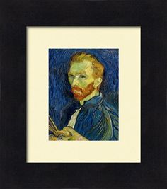 Vincent Van Gogh Self Portrait With Palette Print