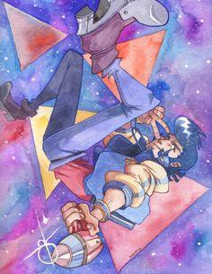 Space Dandy in watercolor