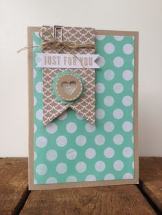 Stampin' up!, banner die, hip hip hoory card kit, fresh prints dsp stack, smal heart punch,