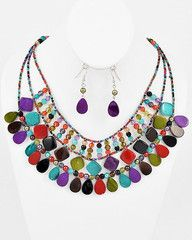 Bold and Beautiful Colorful Statement Necklace-$38-Find hot fashion jewellery and statement jewlry at Strike Envy. #jewellery #jewlry