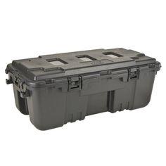 Plano: XXL Sportsman's Trunk 110 Quart Tote with Wheels. Storage Tubs, Gun Storage, Plastic Storage, Storage Containers, Storage Boxes, Locker Storage, Cheap Storage, Storage Ideas, Survival Prepping