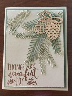Christmas Pines, Pretty Pines thinlits, copper foil sheets and EP
