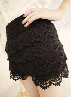 Vintage High Waist Tiered Lace Shorts  #UsTrendy, #Spring, #Style