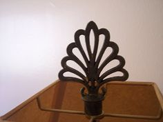 DIY lamp finial from curtain rod ends