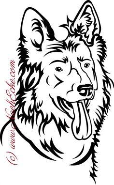 Aufkleber Schäferhund 9