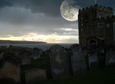 Image result for whitby abbey super moon