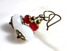 Christmas Earrings Holiday Jewelry Christmas by MsBsDesigns, $24.00
