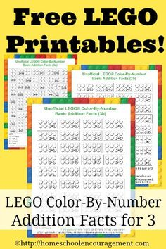 Unofficial LEGO Color-By-Number Printables (Free LEGO Printables Weekly) Homeschool Encouragement