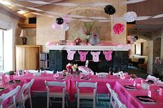 Hot Pink and Zebra Baby Shower