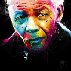 NELSON MANDELA by Patrice Murciano (click through to available artwork). May he rest in the peace that eluded him in life. Poster Pictures, Canvas Pictures, Murciano Art, Patrice Murciano, Site Art, Poster A3, Illustration, Arte Pop, Colorful Paintings