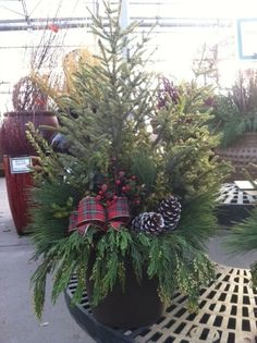 Holiday Traditions at Pahl's Market Christmas Urns, Christmas Planters, Christmas Door Wreaths, Christmas Makes, Outdoor Christmas, Beautiful Christmas, Winter Christmas, Christmas Lights, Christmas Decorations