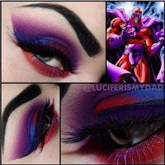 What stunning blending and color placement! Luciferismydad created this amazing Magneto-inspired look using #Sugarpill Love+, Poison Plum and Velocity eyeshadows. Love everything she does!