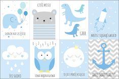 PLAKATY W POKOJU DZIECKA + LINKI DO DARMOWYCH PLAKATÓW | moje IDEALIA - blog lifestylowy, DIY, wnętrza, ciąża i macierzyństwo, uroda, kuchnia Free Poster Printables, Printable Wall Art, Newborn Room, Baby Room, Elephant Baby Showers, Baby Elephant, Cot Sets, Baby Patterns, Kids And Parenting