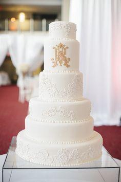 Six-Tier Regal White Wedding Cake