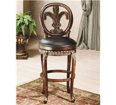 Fleur De Lis Triple Leaf Bar and Counter Stool