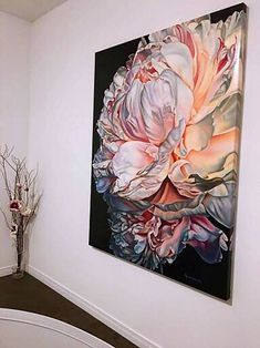 """Angels Breath"" Limited Edition of on Canvas Varnished Printmaking by Irina Gretchanaia Peony Painting, Acrylic Painting Flowers, Abstract Flowers, Watercolor Flowers, Floral Paintings, Tableaux D'inspiration, Boat Art, Botanical Prints, Painting Inspiration"
