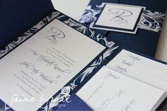 Classic and elegant, love the flourish pattern paper.