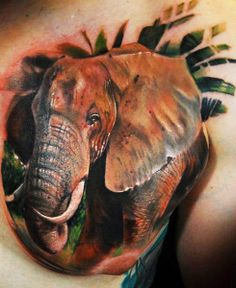 I do like this elephant tattoo, I'm thinking it is on a butt check; since I don't see the aereola