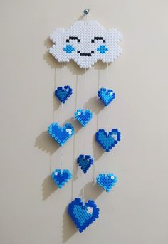 Melt Beads Patterns, Easy Perler Bead Patterns, Perler Bead Templates, Diy Perler Beads, Perler Bead Art, Beading Patterns, Hama Beads Christmas, Hamma Beads Ideas, Perler Bead Disney