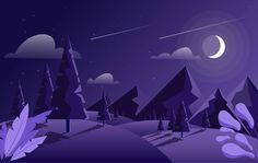 Download Vector Landscape Illustration for free