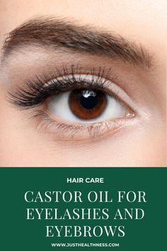 Castor oil helps obtain long and thick eyelashes, and it also protects them from breakage, it also helps grow eyebrows hair naturally How To Grow Eyelashes, Thicker Eyelashes, Castor Oil Eyelashes, Castor Oil Benefits, Dark Eyebrows, Hair Hacks, Hair Tips, Mascara Brush, Home Remedies For Hair