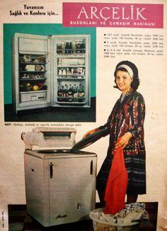 OĞUZ TOPOĞLU : arçelik buzdolabı ve çamaşır makinesi 1963 nostalj...