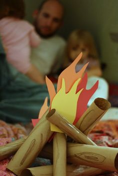 Indoor Camping! What a fun activity to do with your kids!