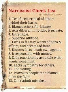 What a list!!.Does anyone on particular come to mind? Sadly..yes!