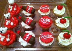 cupcakes for coca cola theme party