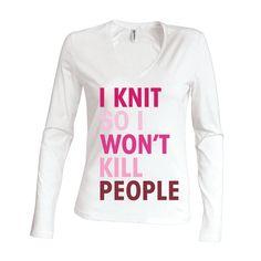 Dames | longsleeve Knitting & Killing (K382)