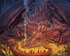picture of Smaug   ... , DESIGNS, and aRT of CHRISTOPHER BURDETT: Smaug the Golden - Process