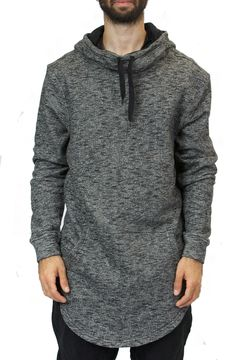 Elongated Cowl Neck Hoodie in Marble Black – Fashion X Freedom