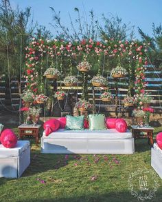 Spotted: Eco - Friendly Decor Ideas For Your Wedding! - ShaadiWish Indian Wedding Planner - Spotted: Eco - Friendly Decor Ideas For Your Wedding! Spotted: Eco - Friendly Decor Ideas For Your Wedding! Wedding Backdrop Design, Desi Wedding Decor, Wedding Stage Design, Wedding Hall Decorations, Marriage Decoration, Engagement Decorations, Wedding Mandap, Backdrop Decorations, Wedding Receptions