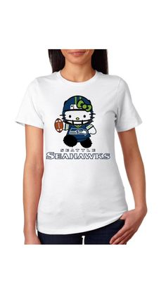 Seahawks Hello Kitty!!!! Is this for real?!?!?!?!☆*:.。. o(≧▽≦)o .。.:*☆