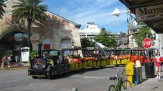 Conch Train, Key West - Wheelchair accessible trains can be arranged in advance (Travelin Wheels Channel)