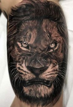 fighter lion #tattoo