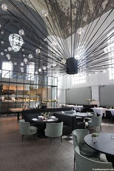 Restaurant Cafe Interior Architect the Jane Antwerp Bar Interior, Restaurant Interior Design, Modern Interior Design, Interior Architecture, Contemporary Interior, Luxury Interior, Deco Restaurant, Luxury Restaurant, Restaurant Lighting