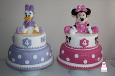 Daisy Duck & Minnie Cakes - Cake by pollyscakes - CakesDecor