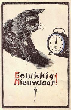 Happy New Year! postcard.
