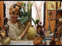 En esta seria Africanas de cerámica te doy algunas opciones  para que decores  los jarrones  con las que siempre las vemos.