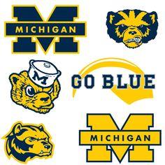 University of Michigan logo and wolverine svg