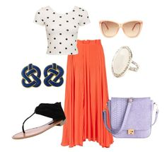 Maxi Skirt & crop top.  Perfect summer outfit.