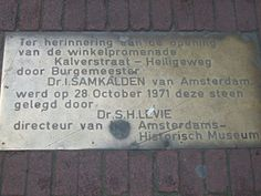 plaque on street amsterdam