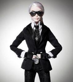 Barbie Lagerfeld. #barbie #karllagerfeld