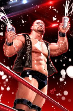 Steve Austin   David Nakayama - Follow Artist on ArtStation // Twitter // Instagram // Behance // Tumblr // Pinterest // Facebook     Steve Austin (born Steven James Anderson on December 18 1964 later Steven James Williams) better known by the ring name Stone Cold Steve Austin is an American retired professional wrestler actor and television host. Veteran professional wrestling journalist Wade Keller remarked that Austin is in every conversation for the greatest wrestling act of all time as…