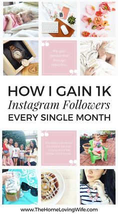 I'm sharing my top 10 tips for growing a real, engaged, authentic Instagram following by the thousands each and every month! | TheHomeLovingWife.com
