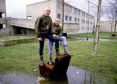 Young skinheads on the Dunstan Estate, Newcastle Upon Tyne
